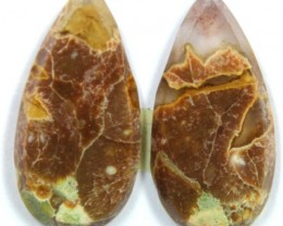 12.5 CTS JASPER PAIR POLISHED STONE GREAT RANGE IN STORE