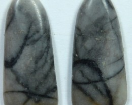 9.0 CTS JASPER PAIR POLISHED STONE GREAT RANGE IN STORE