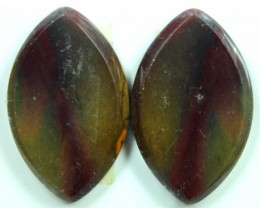 26.8 CTS JASPER PAIR POLISHED STONE GREAT RANGE IN STORE