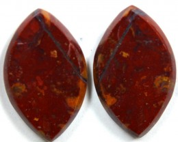 24.0CTS JASPER PAIR POLISHED STONE GREAT RANGE IN STORE