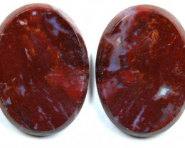 33.2 CTS JASPER PAIR POLISHED STONE GREAT RANGE IN STORE