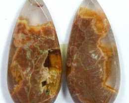 13.15 CTS JASPER PAIR POLISHED STONE GREAT RANGE IN STORE