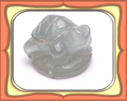 21.26 Natural African Aquamarine Turtle Carving *WoW $NR*