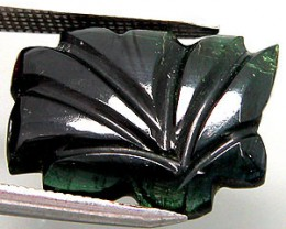 Actual photo of 10.90CTW Tourmaline Carving presented by YOURGIFTSTOP on Gemrock & Opal Auctions.