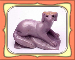 CARVING- Exquisite Turkish Natural Purple Jade Dog Carving