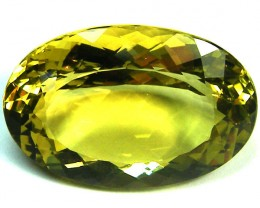 LARGE FACETED LEMON QUARTZ 58 CTS GWF 51-2