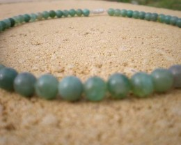 NATURAL JADE BEAD STRAND 6.5mm Round 16 INCH