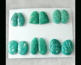 Hand Polished  Amazonite  Cabochon Pair Parcel  -  23x18x5 MM