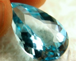 17.97 Carat VVS Blue Brazilian Topaz - Superb