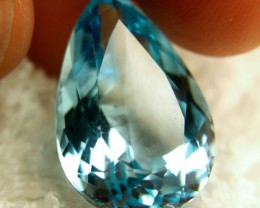 CERTIFIED - 26.547 Carat Blue South American Topaz - Gorgeous
