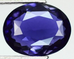 2.78 Cts Natural Tanzanian Royal Blue Iolite Oval Cut Gemstone
