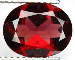 2.92 Cts Natural Red Rhodolite Garnet Oval Cut African Gemstone