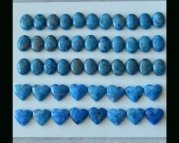 120.25Cts  Natural Lapis  Lauzli Oval Cabochon ,Heart Cabochon