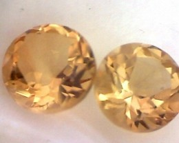 Sparkles with Brilliance 1.65 pair Golden Yellow Citrine THB34