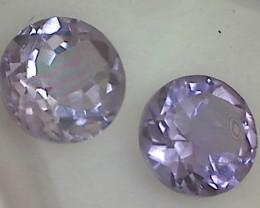 1.80ct Sparkling Lavender Purple Amethyst Pair VVS THB35