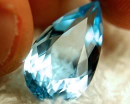 14.74 Carat IF/VVS1 Blue South American Topaz - Superb