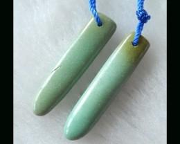 Natural Turquoise Earring Beads  , Handmade Jewlery Bead - 32x7x4 MM