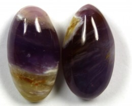 27.10 CTS AMETHYST PAIR POLISHED STONES
