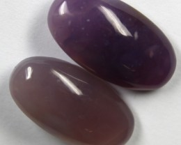 35.0 CTS AMETHYST PAIR POLISHED STONES