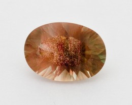 2.4ct Peach Green Oval Sunstone (S2314)