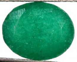 EMERALD FACETED GREEN STONE 3.95 CTS PG-729