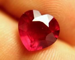 4.08 Carat Pigeon Blood VS Ruby Heart - Gorgeous