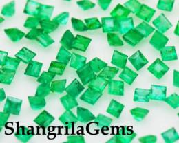 2mm 10 Emerald Square cut gemstones 0.50ct 10 gems