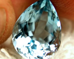 10.37 Carat Sea Foam Blue VVS1 South American Topaz