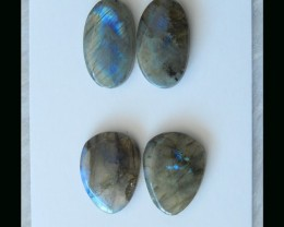2 Pair On Sale - Labradorite Cabochons Pair  , 41.5 cts