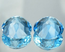 10.06 Cts South American Sky Blue Topaz PAIR - GEMEX - NR Auction