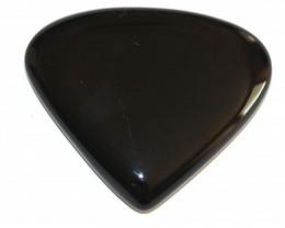 Fine Natural Black Onyx Cabochon  (OX-23