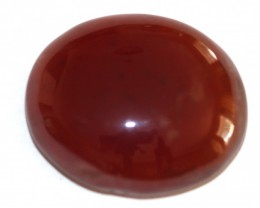 Fine Natural Red Onyx Cabochon  (OX-41
