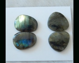 2 Pair  Natural Labradorite Cabochon Pair  - 23x17x6 MM