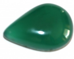 Fine Natural Green Onyx Cabochon  (OX-28