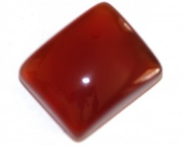 Fine Natural Red Onyx Cabochon  (OX-35