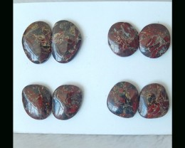 African Red Stone Cabochon Pairs  -  24x16x5 MM
