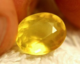 3.50 Carat Vibrant Canary Mexican Fire Opal - Gorgeous