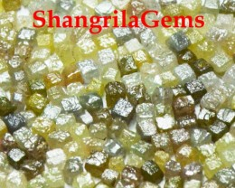 100 cube diamonds 1.5mm 2mm cube 5ct silver, grey, green, yellow