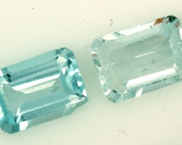 BLUE TOPAZ NATURAL FACETED (2 PC) 2.20 CTS PG-830