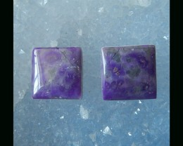 7 Cts  Natural Sugilite Cabochon pair , 11x3 MM(C0062)