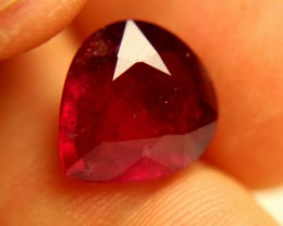 7.28 Carat Fiery SI Ruby Pear - Beautiful