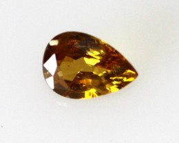0.25cts Natural Australian Golden Sapphire Pear Cut
