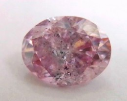 Argyle/GIA Oval 0.95ct Fancy purplish pink 7P One of Kind