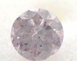 GIA Round 2.64ct Fancy Light Gray Purple