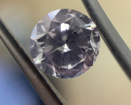 GIA Round 2.64ct Fancy Light Gray Purple