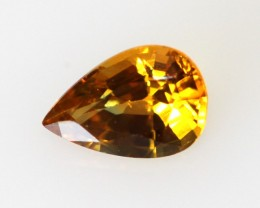 0.55cts Natural Australian Golden Sapphire Pear Cut