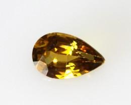 0.59cts Natural Australian Golden Sapphire Pear Cut