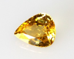0.54cts Natural Australian Golden Sapphire Pear Cut