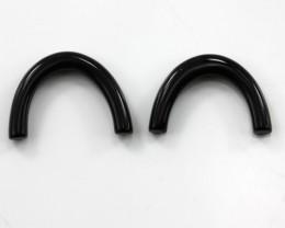 7.70cts Matching Onyx Arch Shape