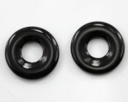 16.63cts Matching Onyx Donut Shape
